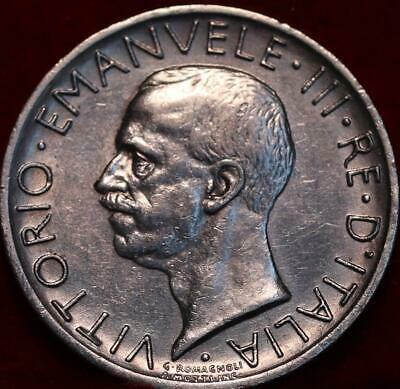 1929 Italy 5 Lire Silver Foreign Coin