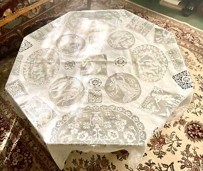 "70"" Round Antique Lace Tablecloth"