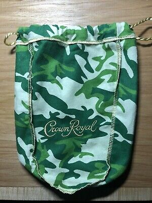 Crown Royal Green Cammo Bag. Limited Edition. Sewing. Face Mask Material