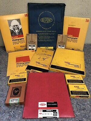 Large Lot Of Opened Vintage Film And Photo Paper - All Opened Packages