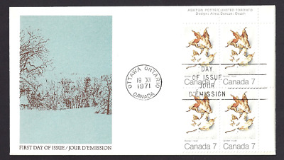 Canada  # 538 URpb   MAPLE LEAVES - WINTER  Brand New 1971 Unaddressed Cover