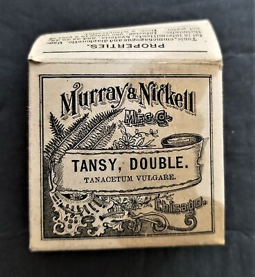 1906 antique TANSY QUACK MED homeopathic Murray's Nickell hysteria antheimintic