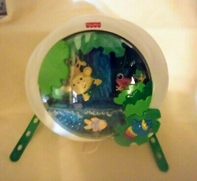 Fisher Price Mattel Rain Forest Lighted Musical Animated Crib Attachable Toy GUC