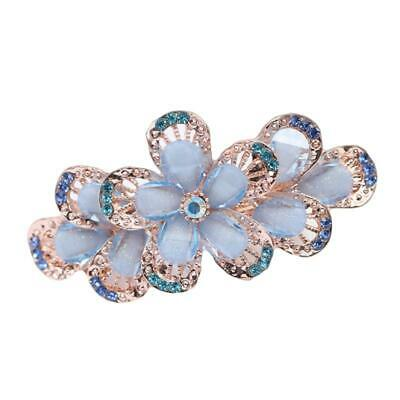 Jewelry Five Petal Flowers Crystal Hairpin Multi Colors Charm Women Hairgrip LL