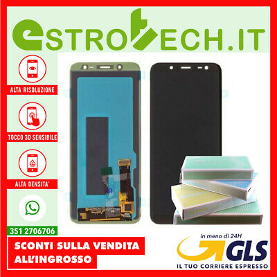 Display SAMSUNG Originale LCD con Touch Screen per Galaxy J6 2018 SM-J600F Nero