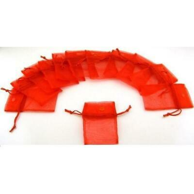"""Red Organza Drawstring Jewelry Pouches Gift Bags 2.75"""" x 3"""" Kit 144 Pcs"""