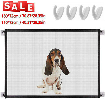 Retractable Pet Dog Gate Net Safety Guard Folding Baby Stair Gate Isolation