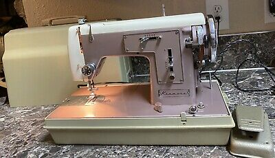 Kenmore 158 510 Heavy Duty Sewing Machine Pink Vintage Japan + Case Tested Used