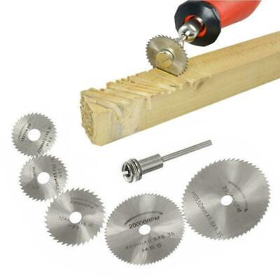 7Pcs HSS Circular Saw Blades Wood Cutting Discs Mandrel For Rotary 22-50mm Z1Q1.