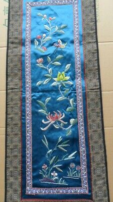 Chinese 100%Hand embroidered Peking Embroidery Art:flower&butterfly screen