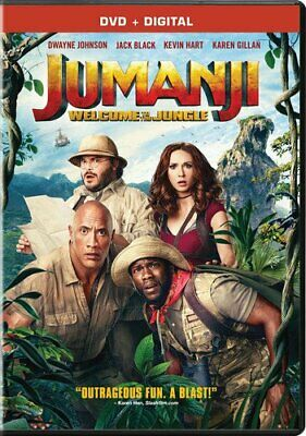 Jumanji: Welcome to the Jungle (DVD+Digital, 2018, Columbia Picture, Widescreen)
