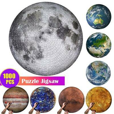 1000 Pieces Moon -Puzzle Jigsaw Puzzle Kids Adult Jigsaw Puzzle Planets Maps Toy