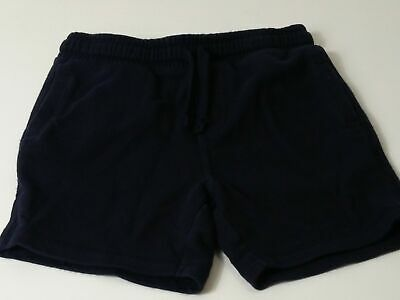 Boys Marks & Spencer Navy Blue Elasticated Waist Shorts Age 6-7 Years