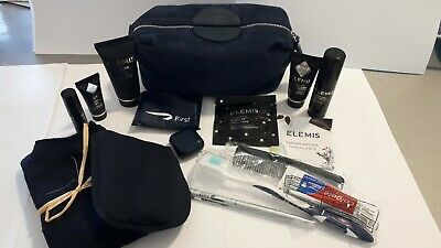British Airways Temperley Elemis Mens First Class Travel Toiletries Bag Blue