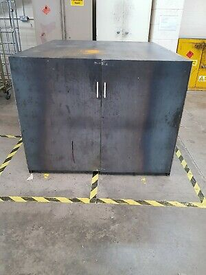 Large Deep Steel Industrial Cupboard With Space For 5 Shelves