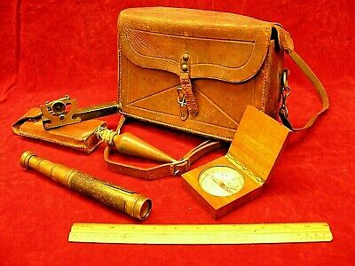 ~  1900s Cased Set of Surveying Instruments Used by a Timber Cruiser in the NW ~