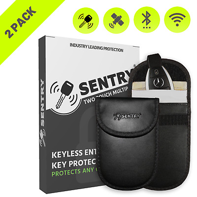 2x Sentry RFID Key Pouch for Keyless Entry Cars - Industry Leading Protection