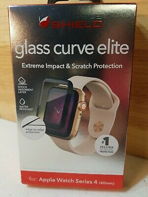 Invisible Shield Glass Curve Elite Screen Protector for Apple Watch Series 4