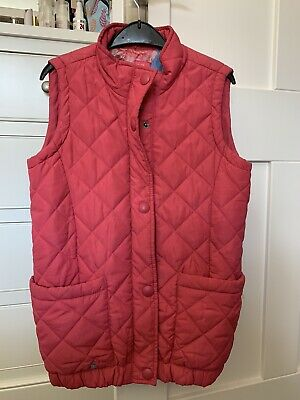 Joules Girls Quilted Pink Gilet Age 11-12