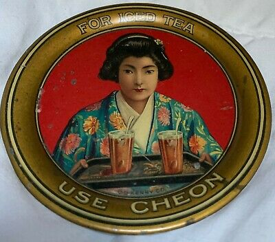 CHEON TEA TIP TRAY C.D. KENNY Original Tin Tray Small
