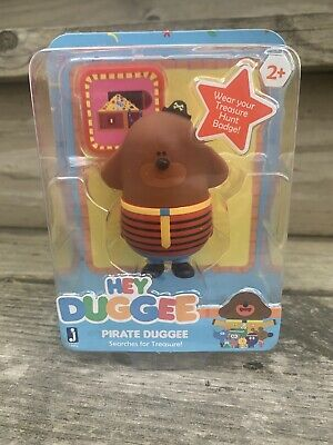 """Hey Duggee Pirate Duggee Searches for Treasure! 3/"""" Figure w// Badge New 2+"""