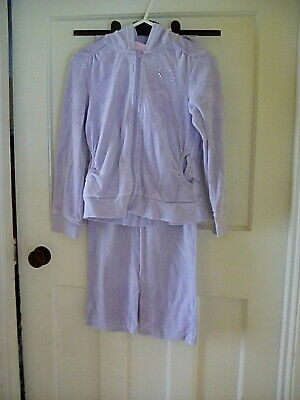 Girls Lilac Tracksuit Ladybird Age 8-9 Years USED