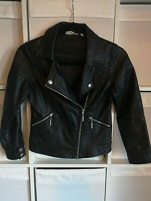 Girls Faux Leather Jacket Aged 9 - 10 Years