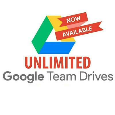 8) Unlimited Google Drive (Team Drive) for your one Google account.