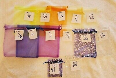 477 Sheer Organza Bags 5x7 inch Assorted Colors