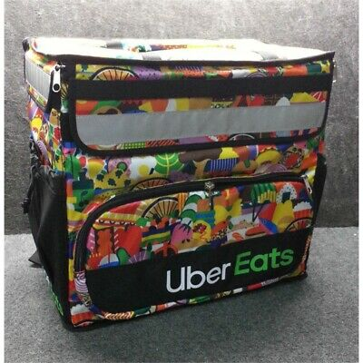 Uber Eats Insulated Backpack, Limited Edition Artist Series, Melanie, No Box