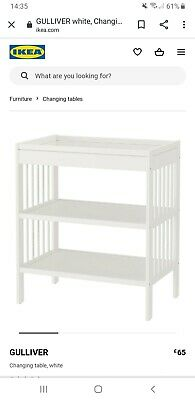 Ikea White Baby Changing Table + Changing Mat
