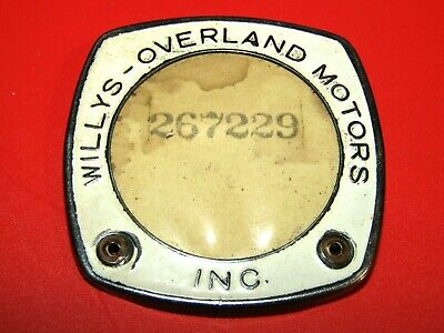 Vintage Willys-Overland Motors Inc. Automobile Metal Badge-See Photos !!