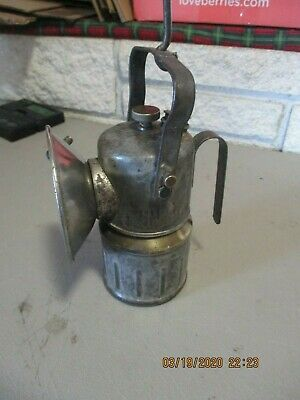 Vintage Antique Justrite Miner's Lamp