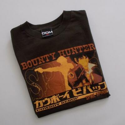 Cowboy Bebop Anime T Shirt Spike Spiegel Size Small Brown Hard To Find