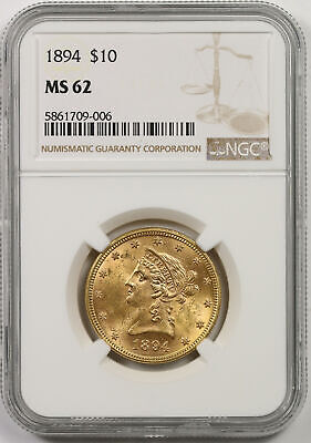 1894 Liberty Head Eagle Gold $10 MS 62 NGC