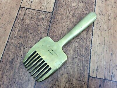 Vintage Brass Heavy Weight Tapestry Beater/Waving Loom Comb (Dryad Handicrafts)