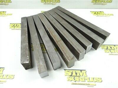 "29.5Lb Solid Steel Bar Stock 7/8"" X 1-1/2"" X 8-1/2"" To 10"" Lengths"