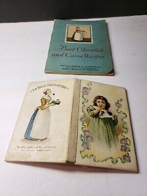 Vintage 1900 Bakers Chocolate Recipe Holder And 1931 Recipe Book