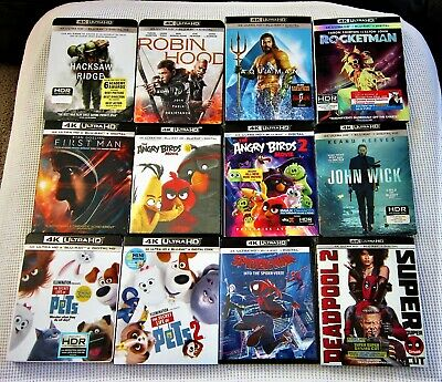 4K Movie Lot - 12 Movies We Bought & Watched Once - All 12 Have Digital Codes
