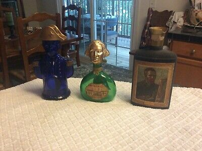 Vintage Bottles Jim Beam, Charles Jacquin Cobalt Blue,Mateus Rose Wine Bottle