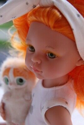 """Paola Reina Articulated Doll~ORANGE~13.5""""~34cm~outfit doll by iCukla~new body#4"""