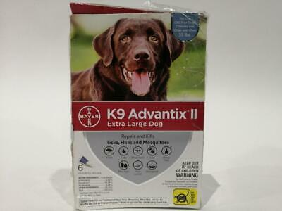 K9 Advantix II Flea And Tick Prevention|Extra Large Dogs 55 lbs+ 6 Treatments OB