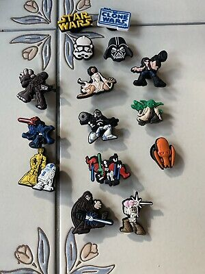Dark Vader Star Wars Storm Shoe Charms Crocs Wristband Shoe Jibbitz  Lot 15pcs