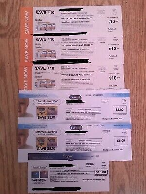 NEW ENFAMIL INFANT AND ENSPIRE& SIMILC COUPONS CHECK. EXP: 5/20 - 9/20.Worth $50