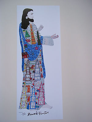 HOWARD FINSTER  Large  JESUS  Print  SIGNED NUMBERED  Folk Art