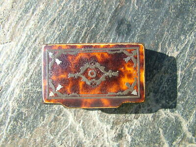 Antique 19Thc. Faux Tortoise Shell Inlaid Snuff Box