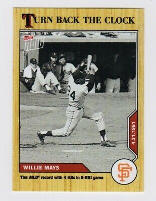 2020 Topps Now Turn Back The Clock Willie Mays #31 Baseball Card(PR 488)