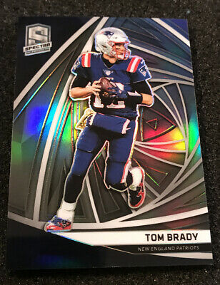2019 Spectra Tom Brady SILVER PRIZM Base #46 New England Patriots #'d 55/99