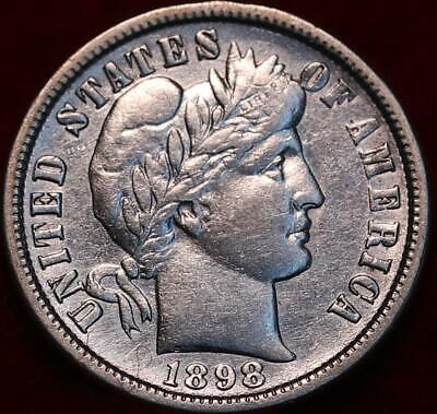 1898-O New Orleans Mint Silver Barber Dime