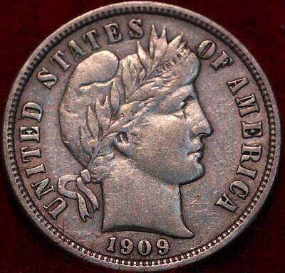 1909-O New Orleans Mint Silver Barber Dime